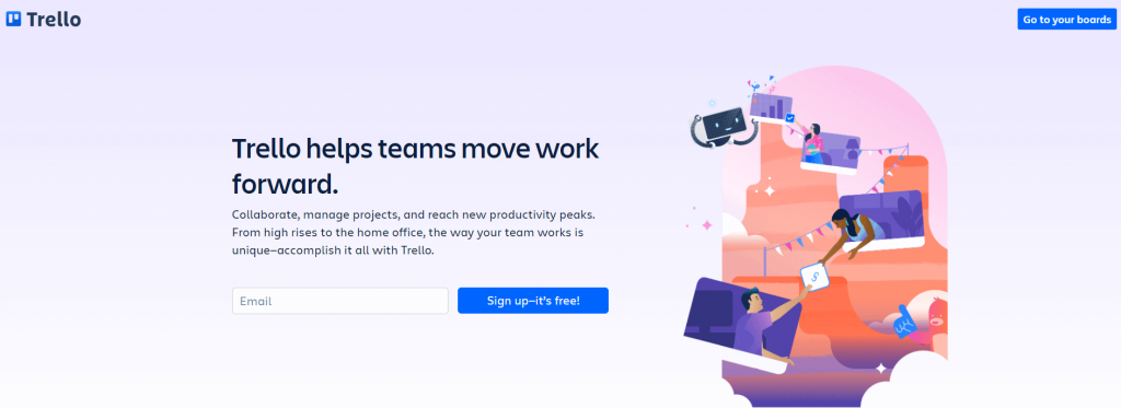 Trello's header text