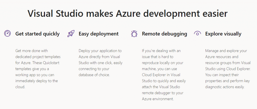 Visual Studio Azure benefits
